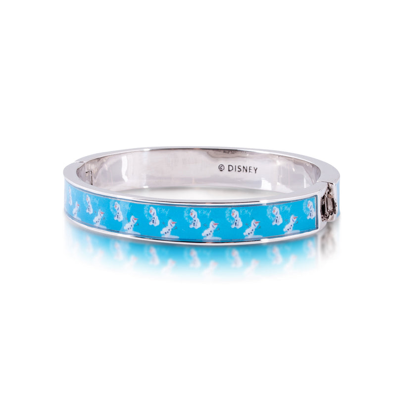 Disney-Kids-Frozen-Olaf-Bangle-back-view-white-gold-jewellery-by-couture-kingdom-official-DFB306