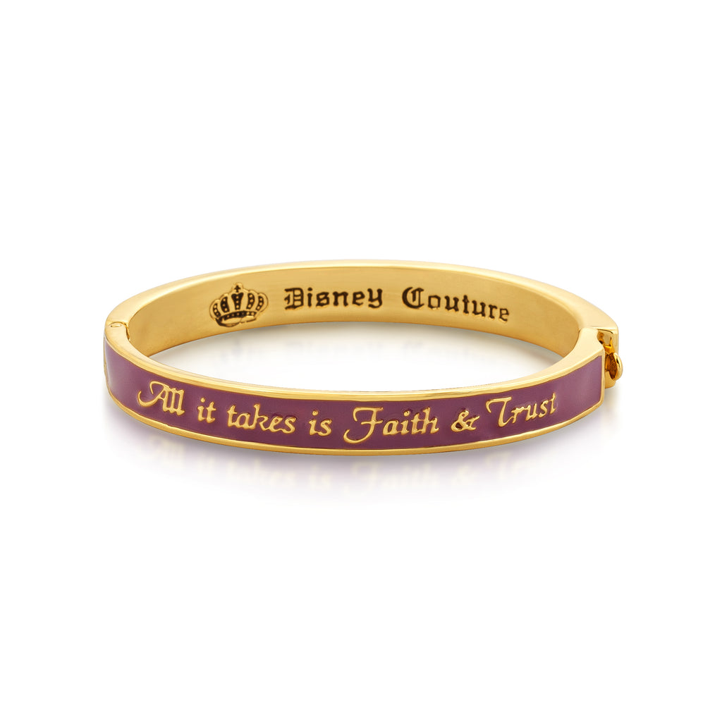Junior All It Takes Is Faith and Trust Bangle - Disney Couture Jewellery