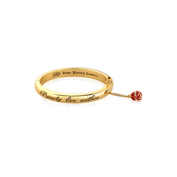 Disney Kids Beauty and the Beast Bangle Yellow Gold by Couture Kingdom DJYB327