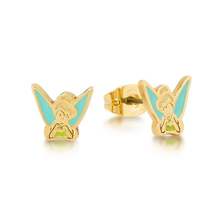 Disney Tinker Bell Enamel Stud Earrings