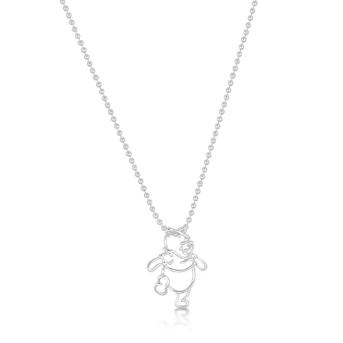 Junior Winnie The Pooh Outline Necklace - Disney Jewellery