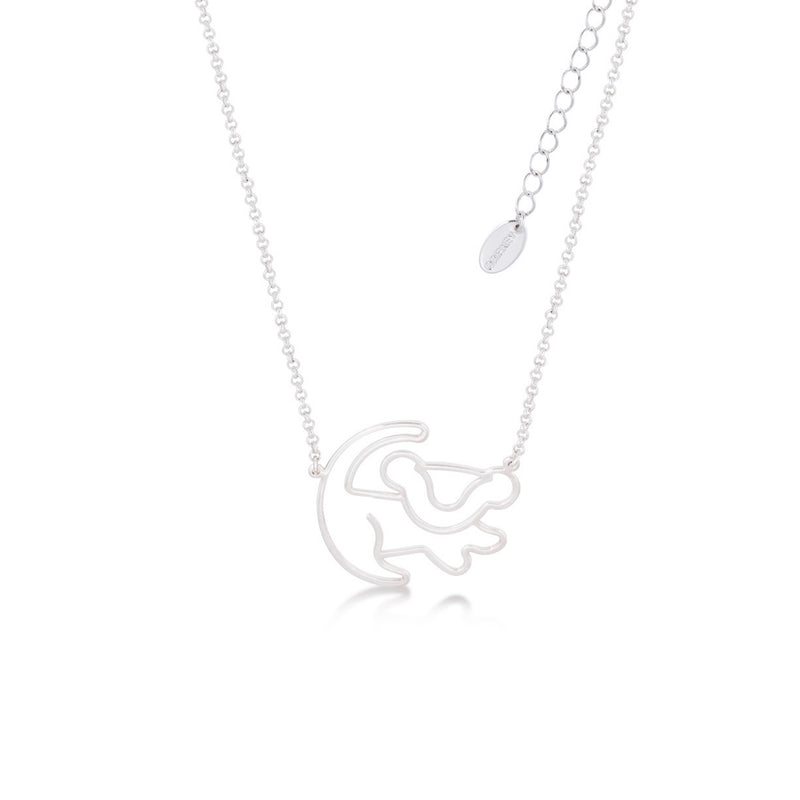 Disney-The-Lion-King-Simba-Kids-Necklace-white-gold-DJN103