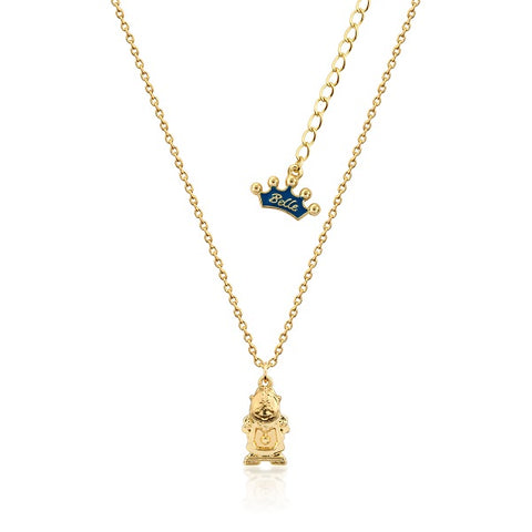 Disney Beauty and the Beast Cogsworth Necklace Junior