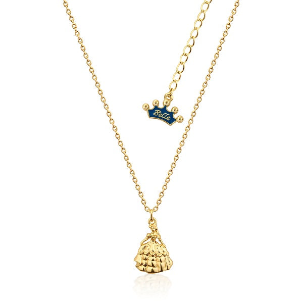 baguette princess gold sapphire ace necklace