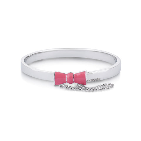 Disney Minnie Mouse Bow Pink Junior Bangle - Disney Jewellery