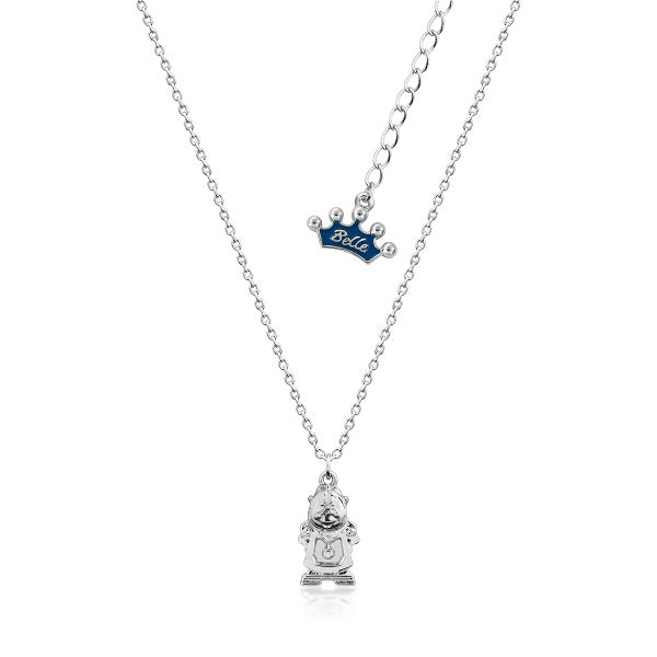 Kids Disney Beauty and the Beast Cogsworth Necklace