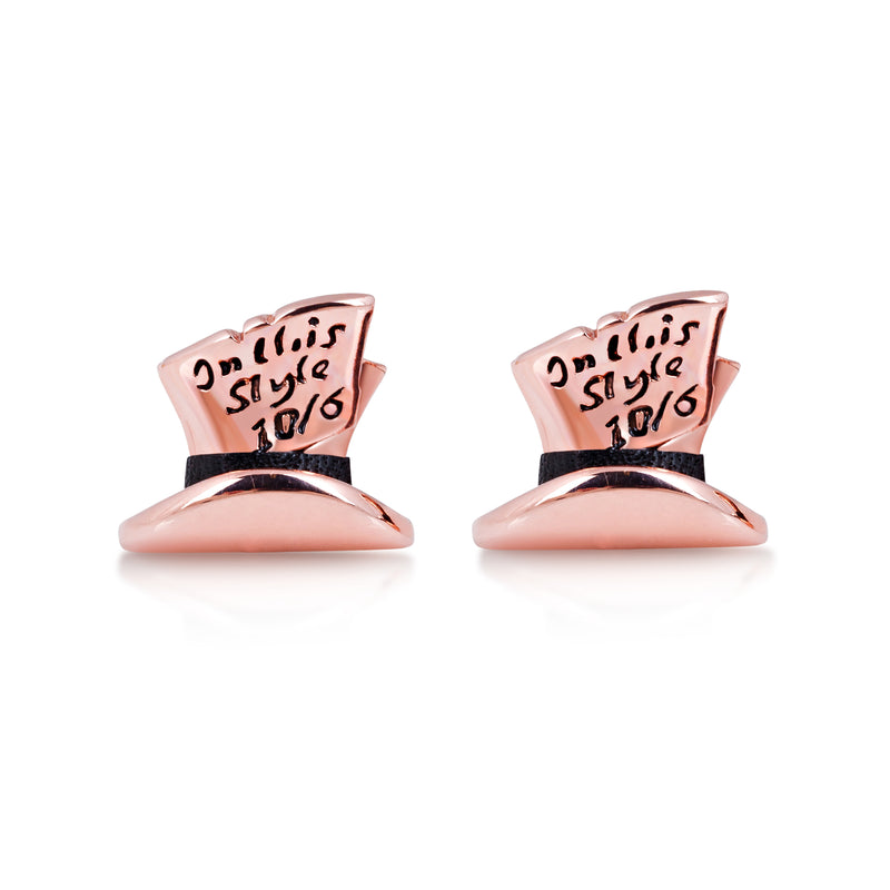 Disney Alice in Wonderland Mad Hatter Stud Earrings - Disney Jewellery