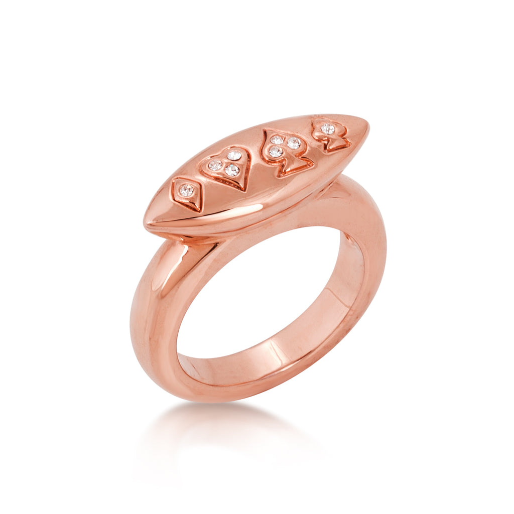 Alice In Wonderland Queen of Hearts Ring Rose Gold