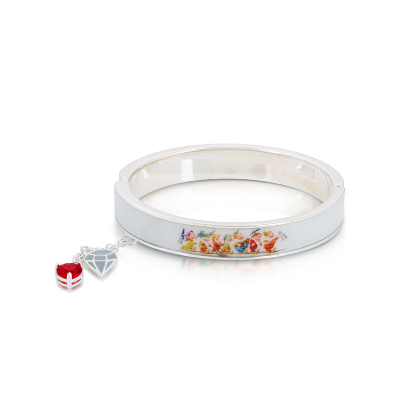 Disney Snow White and the seven dwarfs bangle rear view white gold jewellery by Couture Kingdom DSB0399