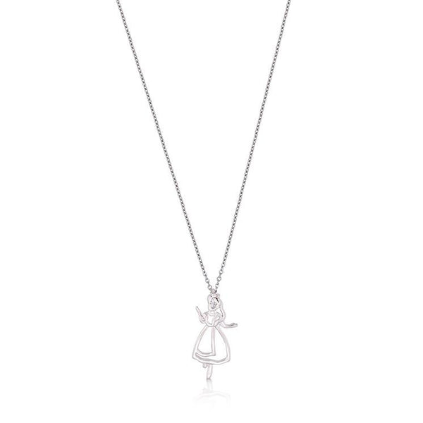 Junior Alice in Wonderland Outline Necklace - Disney Jewellery