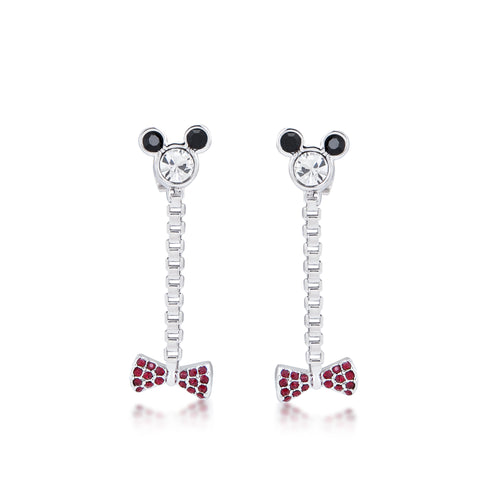 Disney Minnie Mouse Bow Drop Earrings