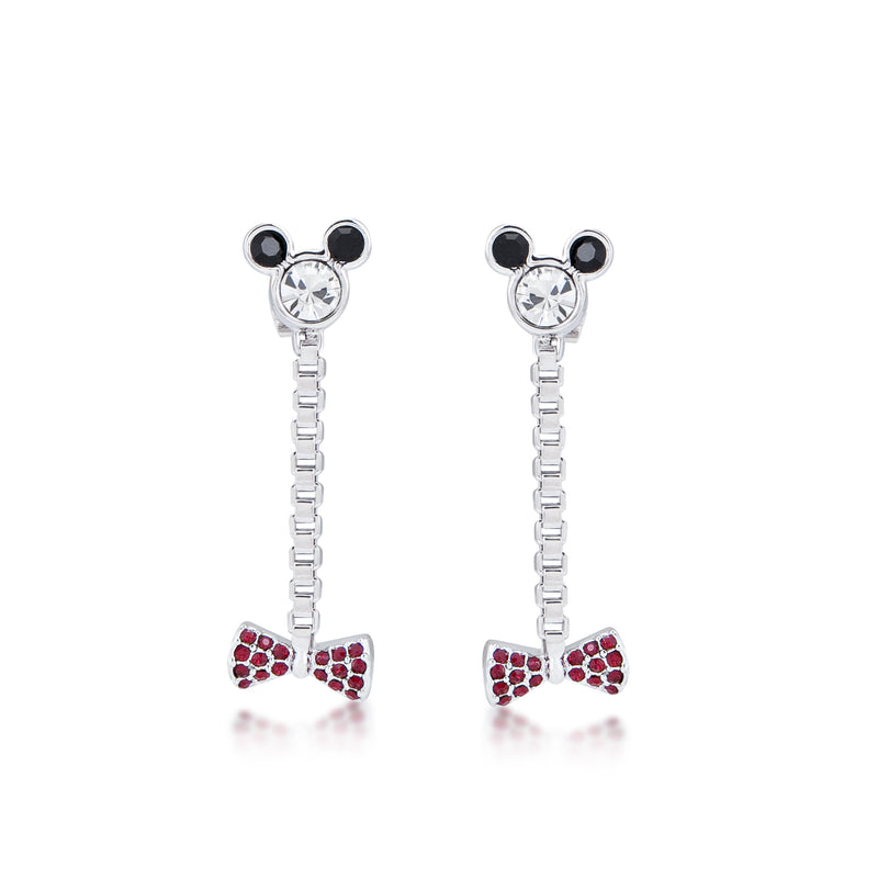 Disney Minnie Mouse Bow Drop Earrings - Disney Jewellery