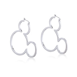 Disney Mickey Mouse Outline Hoop Earrings - Disney Jewellery