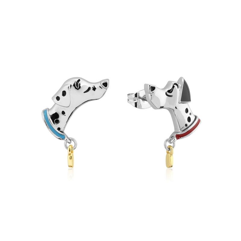 Disney_101_Dalmatian_Pongo_Perdita_Stud_Earrings_White_Gold_Couture_Kingdom_DSE652