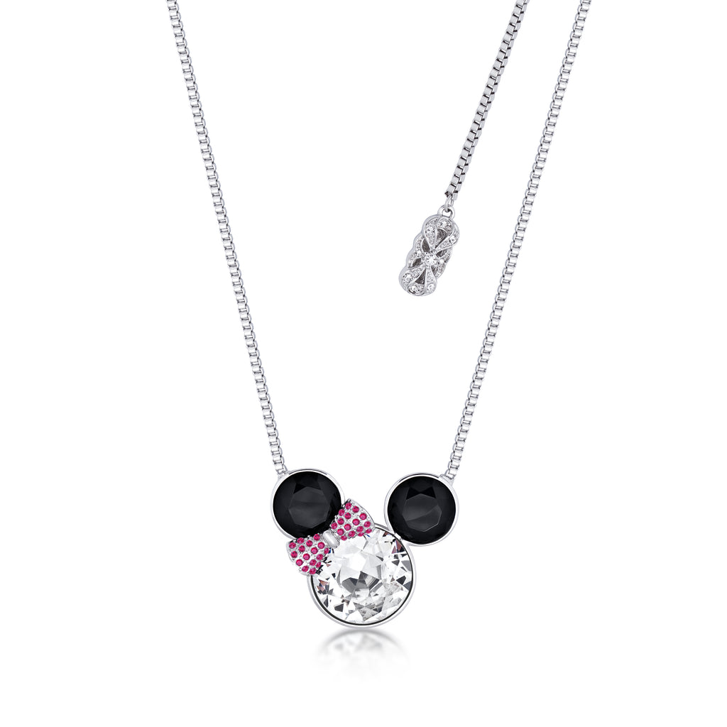 Minnie Mouse Bow Crystal Necklace