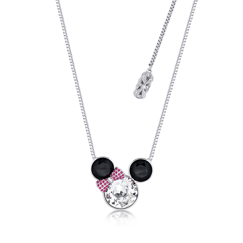 Disney Minnie Mouse Bow Crystal Necklace - Disney Jewellery