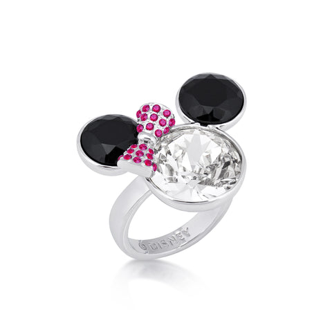 Disney Minnie Mouse Crystal Cocktail Ring - Disney Jewellery
