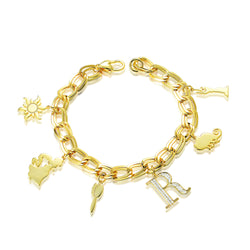 Disney Princess Tangled Rapunzel Charm Bracelet - Disney Jewellery