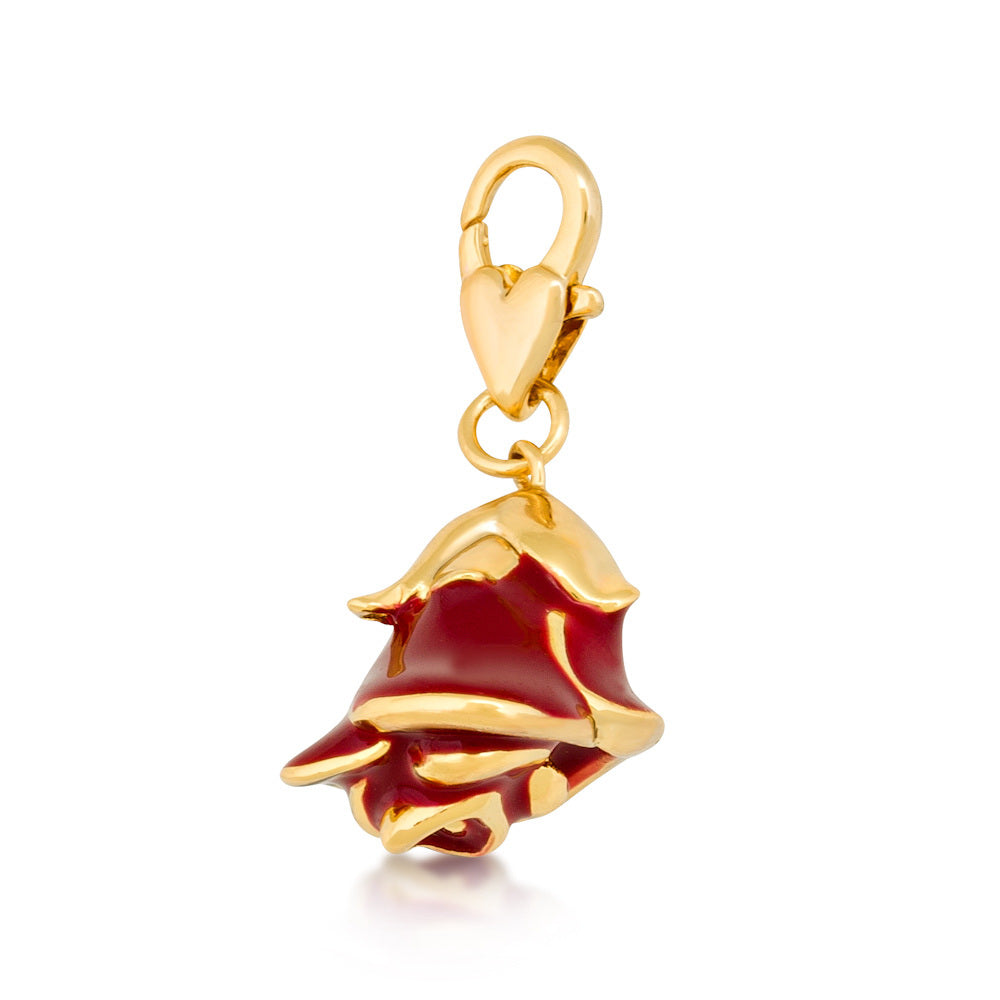 Disney Beauty and the Beast Rose Charm - Disney Jewellery