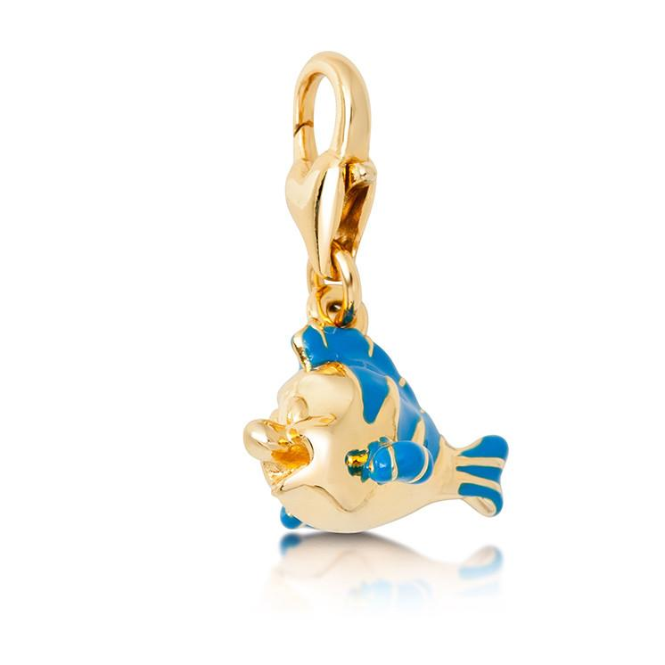 Disney The Little Mermaid Flounder Charm - Disney Jewellery