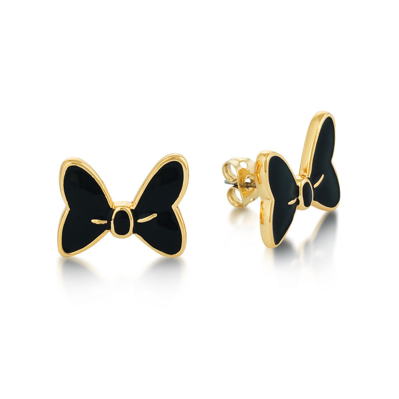 Disney Minnie Mouse Black Bow Studs - Disney Jewellery