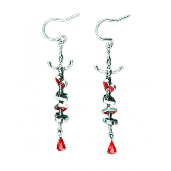 Disney Alice in Wonderland Red Queen Earrings - Disney Jewellery