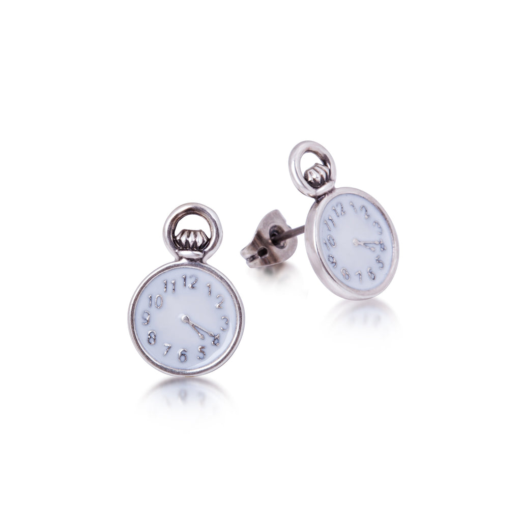 Clock Stud Earrings - Disney Jewellery