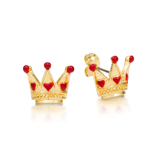 Disney Alice in Wonderland Queen of Hearts Stud Earrings - Disney Jewellery
