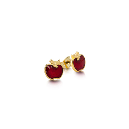 Apple Stud Earrings - Disney Jewellery