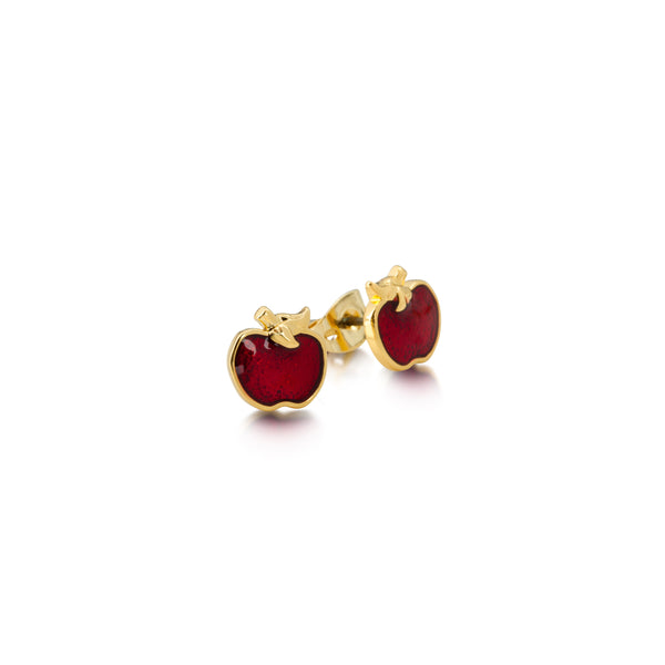 Disney Snow White Apple Stud Earrings - Disney Jewellery