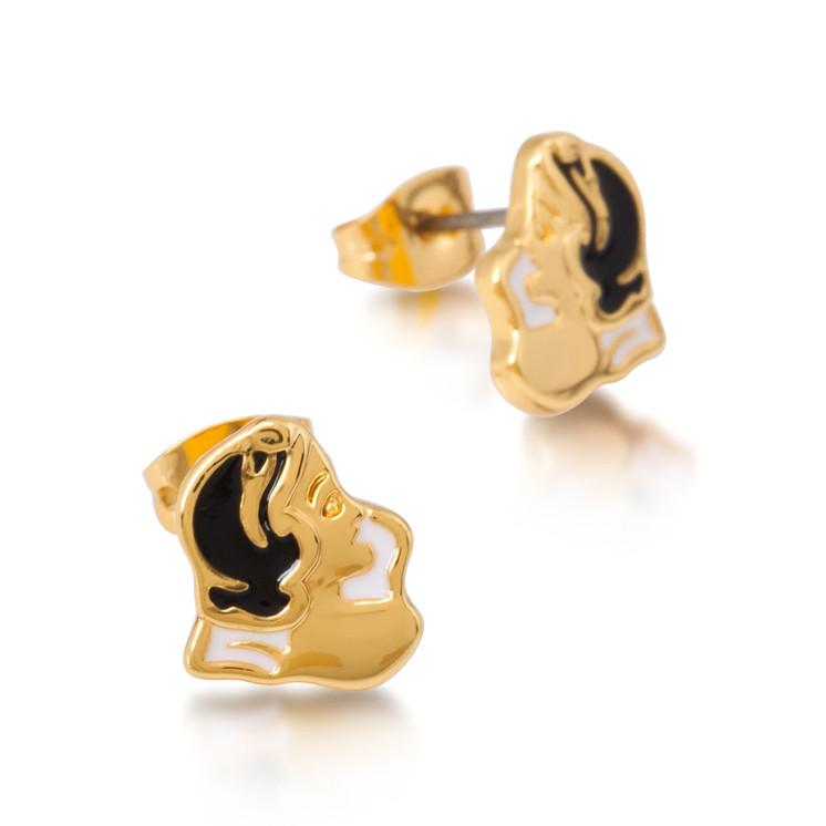 Enamel Snow White Stud Earrings - Disney Jewellery