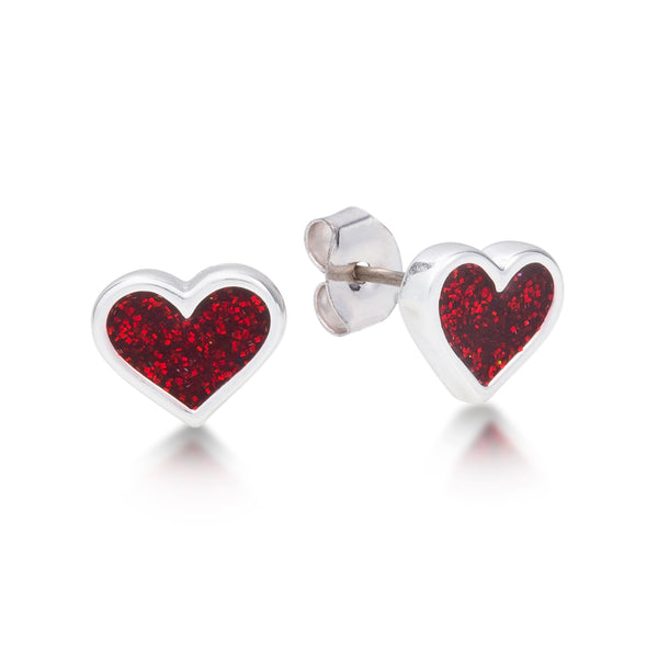 Disney Alice in Wonderland Heart Stud Earrings - Disney Jewellery