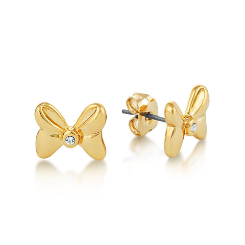 Minnie Mouse Crystal Bow Stud Earrings