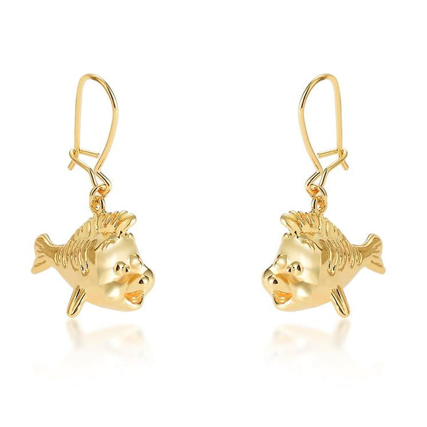 Disney Princess The Little Mermaid Flounder Drop Earrings - Disney Jewellery
