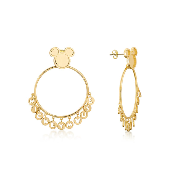 Disney Mickey Mouse Hoop Earrings - Disney Jewellery
