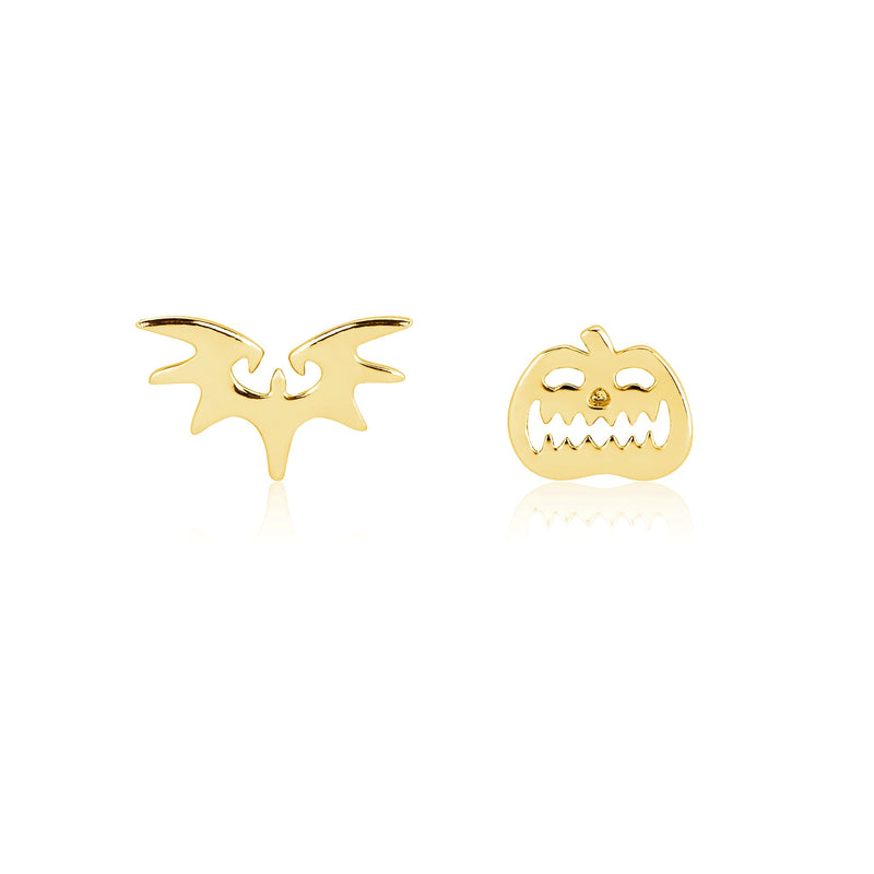 Disney Tim Burton's The Nightmare Before Christmas Pumpkin and Bat Mix-Match Stud Earrings