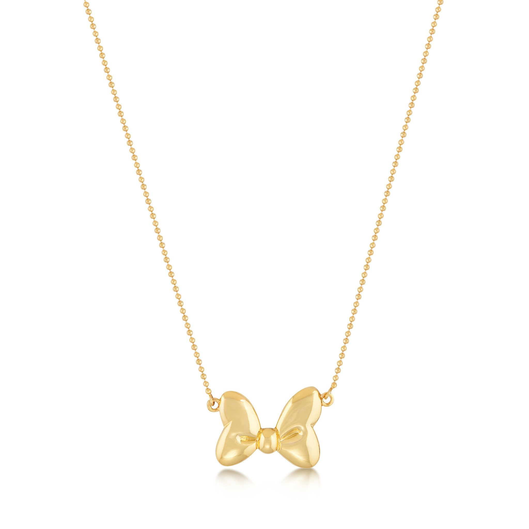 spade york pendant gallery in necklace new skinny gold lyst metallic jewelry rose mini product kate bow