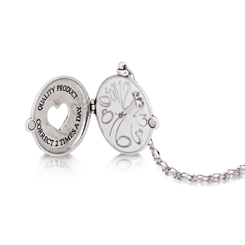 Disney Alice in Wonderland Clock Necklace - Disney Jewellery
