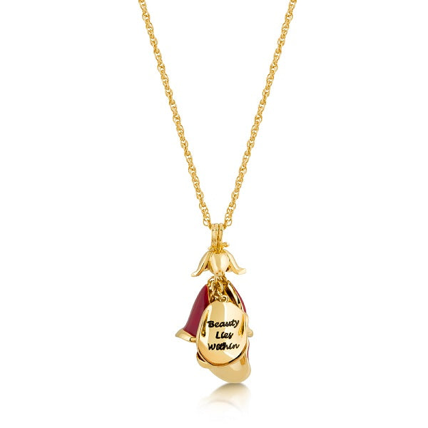 Disney Beauty and the Beast Rose Petal Necklace - Disney Jewellery
