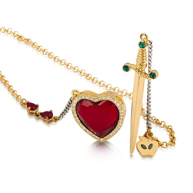 Heart and Dagger Necklace - Disney Jewellery