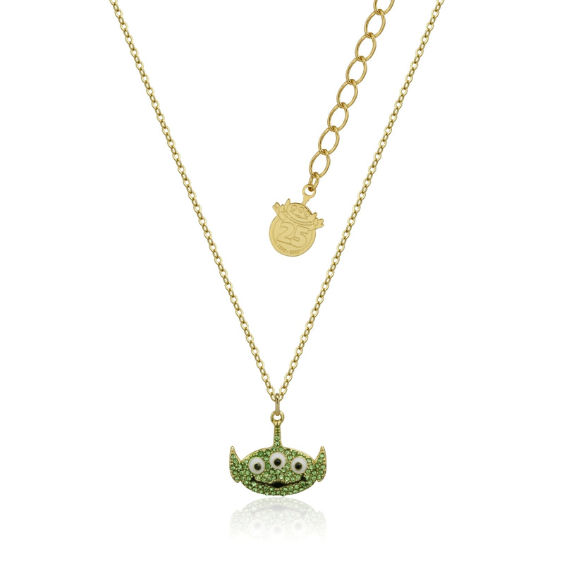 Disney_Pixar_Toy_Story_Alien_Crystal_Necklace_Yellow_Gold_Couture_Kingdom_DYN1004