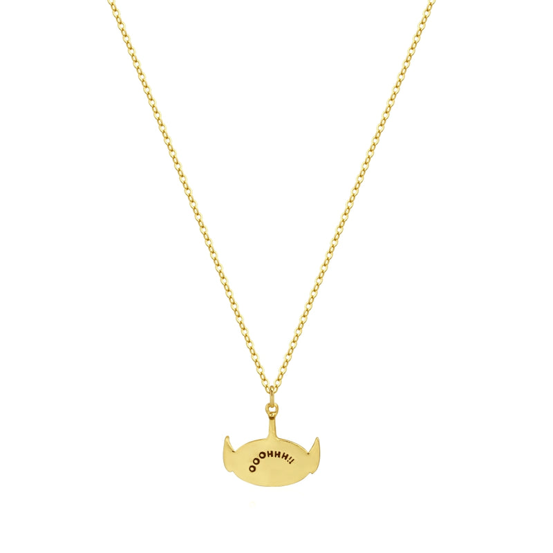 Disney_Pixar_Toy_Story_Alien_Crystal_Necklace_Yellow_Gold_Couture_Kingdom_DYN1004_Back_View