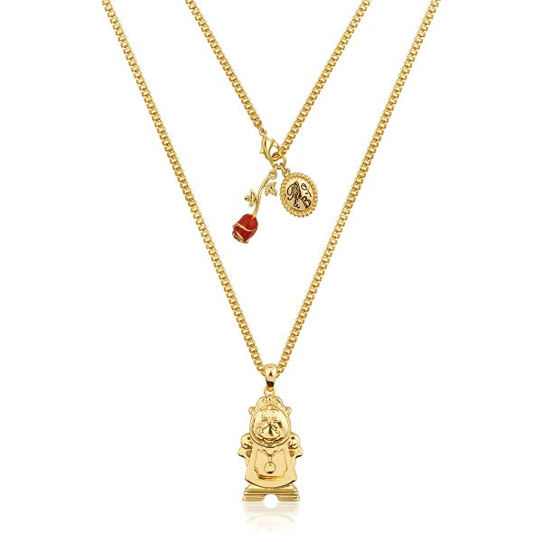 Disney beauty and the beast cogsworth necklace couture for Disney beauty and the beast jewelry