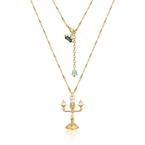 Disney Beauty and the Beast Cogsworth Necklace