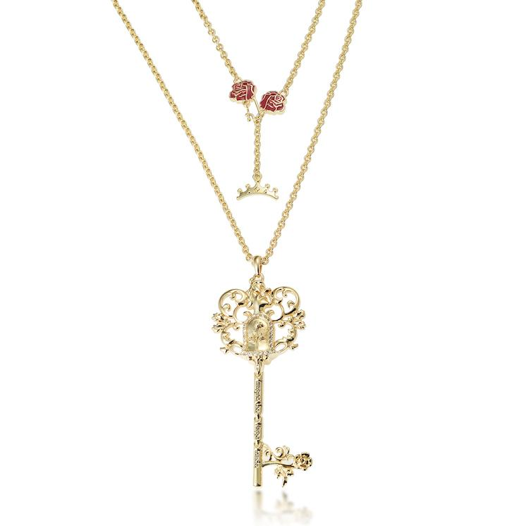 Disney Princess Beauty and the Beast Key Necklace - Disney Jewellery