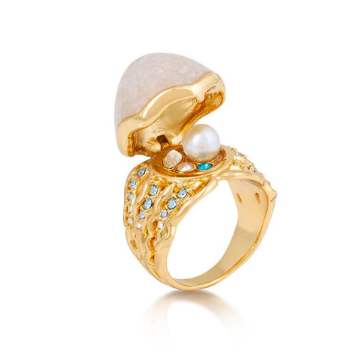 Disney The Little Mermaid Pearl Ring - Disney Jewellery