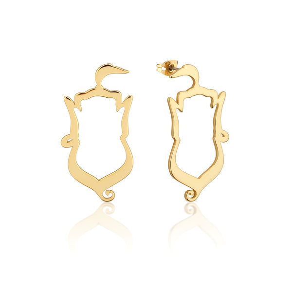 Disney-Aladdin-Genie-Earrings-Yellow-Gold-Jewellery-by-Couture-Kingdom-DYE550