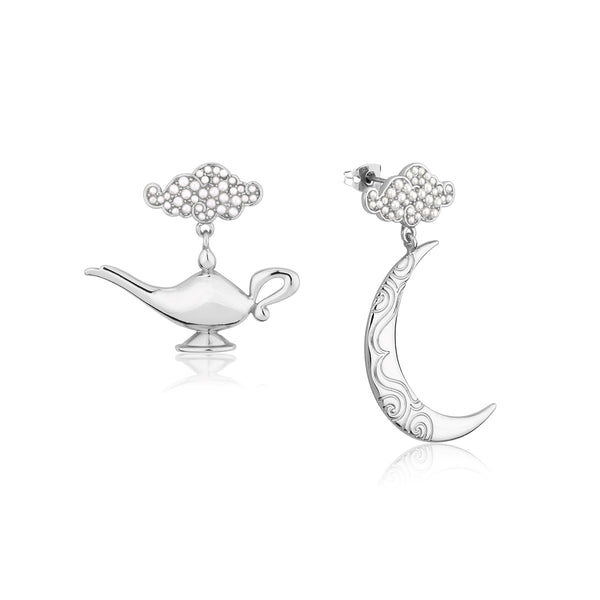 Disney-Aladdin-Genie-Lamp-Earrings-White-Gold-Jewellery-by-Couture-Kingdom-DSE554