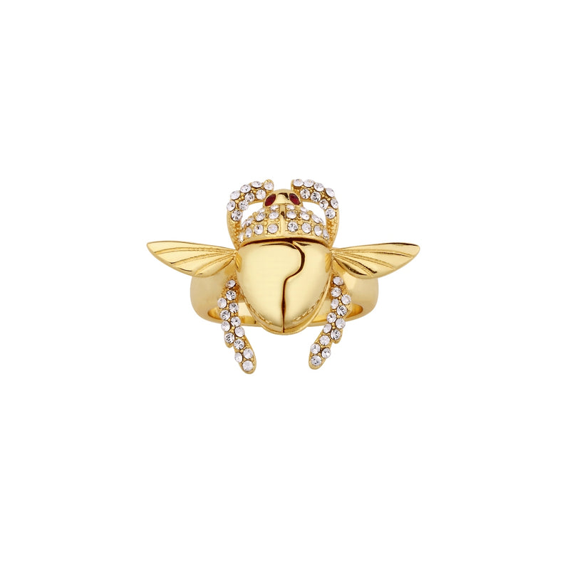 Disney-Aladdin-Golden-Scarab-Ring-Top-view-Yellow-Gold-Jewellery-by-Couture-Kingdom-DYR556