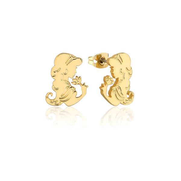 Disney-Aladdin-Princess-Jasmine-Stud-Earrings-Yellow-Gold-Jewellery-by-Couture-Kingdom-DYE556